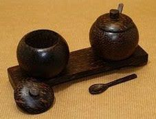 Coconut shell dish bowl