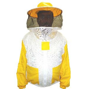 Beekeeping Jacket With Round Hood / Three Layer Ventilated Beekeepers Safety Jacket / Bee Sting Safety Jacket
