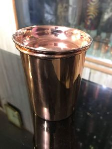 COPPER GLASS WITH LID