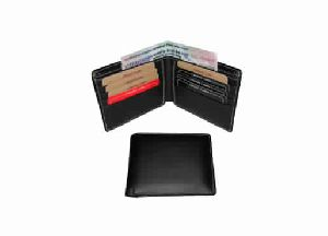 Black color genuine leather gents wallet