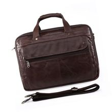 Briefcase Style Leather Travel Bag