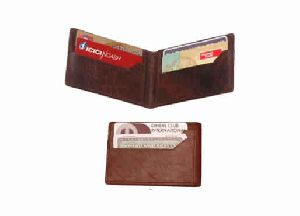 Brown color genuine leather card holder