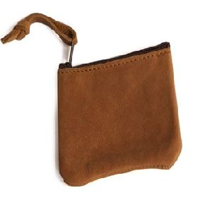 Leather Coin Purse Change Holder