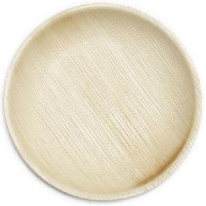 Round Areca Leaf Plain Plate