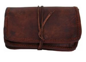Leather stationary pouch
