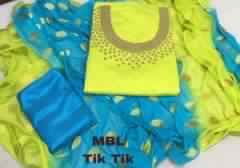 TIK TIK HAND WORK DRESS MATERIAL