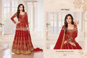 Almirah Silver Santoon Embroidered gowns