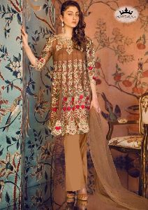 Embroidery Georgette Pakistani Straight Cut Suit