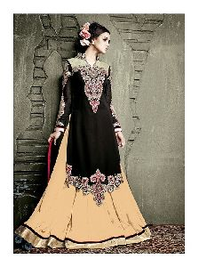 Embroidery work Anarkali Suit