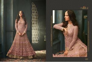 Embroidery work Anarkali Suits