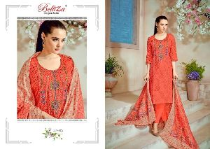 Embroidery workS traight Cut Suit Salwar Kameez