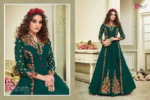Georgette fabric Embroidery work Anarkali Suit