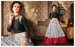 Georgette Viscose fabric Embroidery Print work Anarkali Suit
