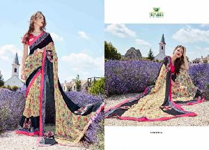 Sidhi Bamberg Georgette Embroidery Saree