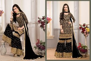 Faux Georgette Fabric Embroidery Work suit