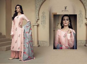 1806 Amyra Embroidered Silk Palazzo Suit