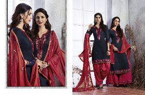 3803 Cotton Embroidered Patiala Suit