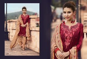 4102 Cotton Embroidered Patiala Suit