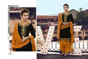 4108 Cotton Embroidered Patiala Suit