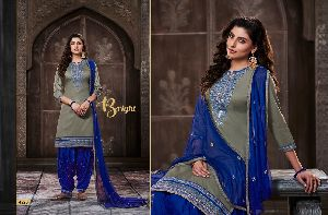 4226 Cotton Embroidered Patiala Suit