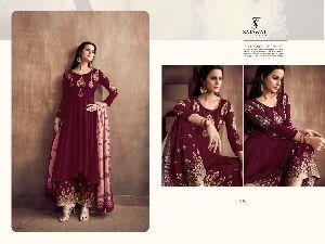 516 Sarthi Vol -2 NX Heavy Maslin Palazzo Suit