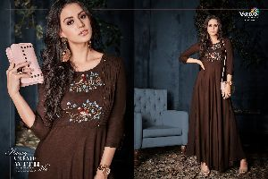 6001 Gulnaz Vol-1 Heavy Rayon Long Kurtis