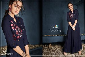 6004 Gulnaz Vol-1 Heavy Rayon Long Kurtis