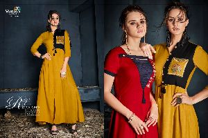 6005 Gulnaz Vol-1 Heavy Rayon Long Kurtis
