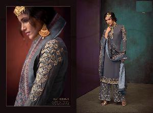 611 Sarthi Vol-3 Heavy Maslin Palazzo Suit