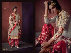 613 Sarthi Vol-3 Heavy Maslin Palazzo Suit