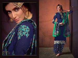 614 Sarthi Vol-3 Heavy Maslin Palazzo Suit
