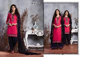 9 Cotton Embroidered Patiala Suit