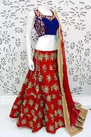Embroidered Banglori Silk Lehenga Choli 01