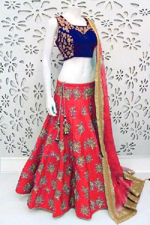 Embroidered Banglori Silk Lehenga Choli 02