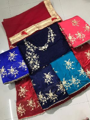 Embroidered Banglori Silk Lehenga Choli 05