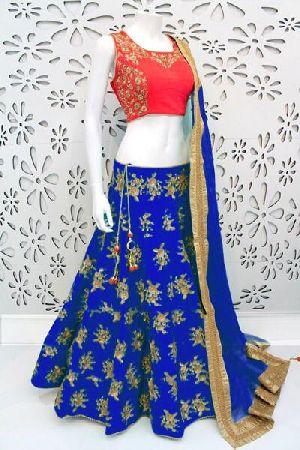 Embroidered Banglori Silk Lehenga Choli 06