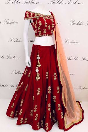 Embroidered Tapeta Silk Lehenga Choli 01