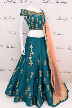 Embroidered Tapeta Silk Lehenga Choli 02