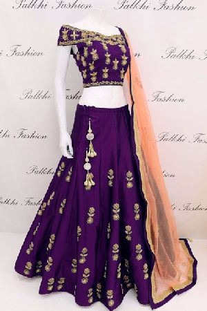Embroidered Tapeta Silk Lehenga Choli 03