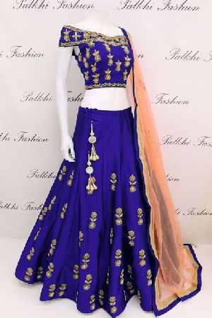 Embroidered Tapeta Silk Lehenga Choli 04