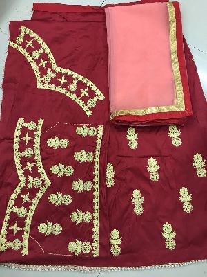 Embroidered Tapeta Silk Lehenga Choli 07