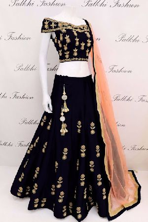 Embroidered Tapeta Silk Lehenga Choli 08