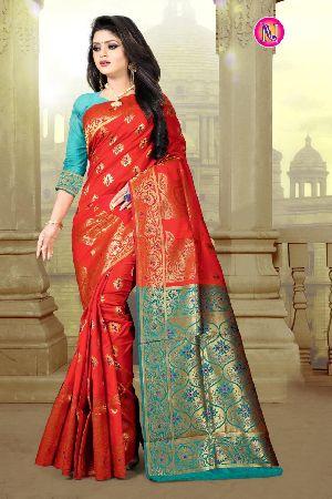 Heavy Art Banarasi Silk Saree 09