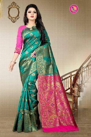 Heavy Art Banarasi Silk Saree 11