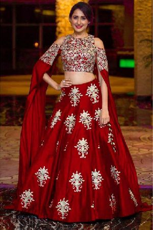 Heavy Work Tapeta Silk Lehenga Choli 07
