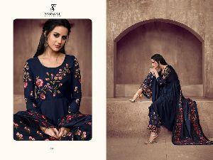 Sarthi Vol -2 NX Heavy Maslin Palazzo Suit 02