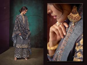 Sarthi Vol-3 Heavy Maslin Palazzo Suit 01