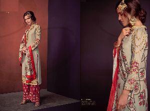 Sarthi Vol-3 Heavy Maslin Palazzo Suit 02