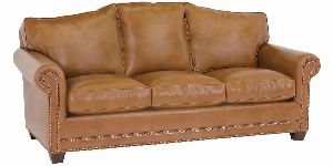 DESIGNER STYLE-ARCHED BACK LEATHER SOFA