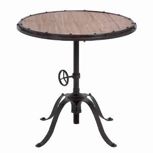 HANDCRAFTED INDUSTRIAL ROUND BAR TABLE